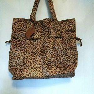 Neiman Marcus Medium Size Leopard Tote Bag